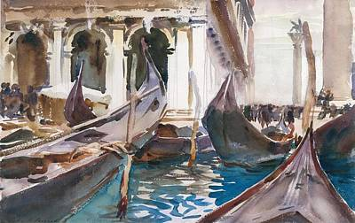 River Painting - The Piazzetta by John Singer