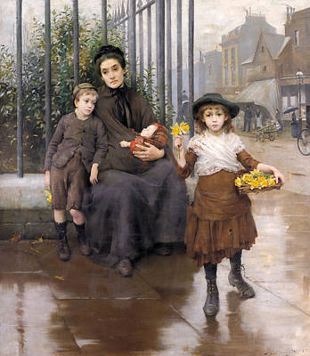 Painting - The Pinch Of Poverty by Thomas Benjamin Kennington