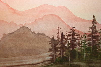 Painting - The Pine Trees by Remegio Onia
