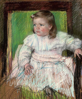 Baby Painting - The Pink Sash by Mary Cassatt