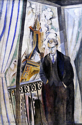 Lyrical Abstractions Painting - The Poet Philippe Soupault by Robert Delaunay