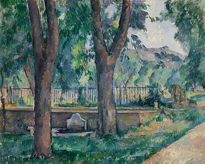 Painting - The Pool At The Jas De Bouffan by Paul Cezanne