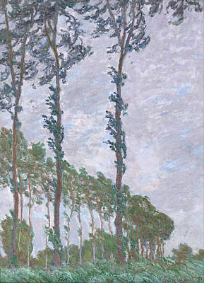 Painting - The Poplars by Claude Monet