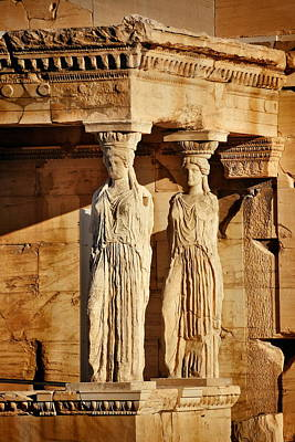 Photograph - The Porch Of The Caryatids by Songquan Deng
