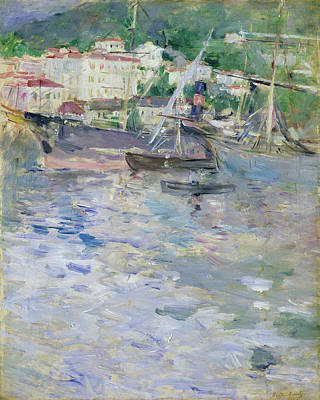 Country Painting - The Port Of Nice by Berthe Morisot