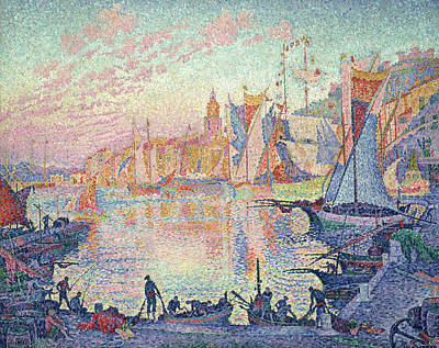 Divisionist Painting - The Port Of Saint-tropez by Paul Signac