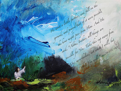 The Prayer In The Garden Art Print by Kume Bryant