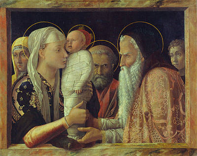 Jesus In The Temple Painting - The Presentation by Andrea Mantegna