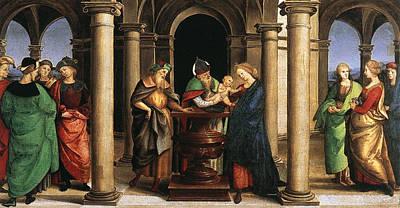 Jesus In The Temple Painting - The Presentation In The Temple by Raffaello Sanzio