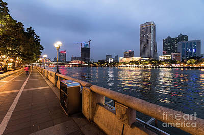 Photograph - The Promenade Along The Pearl River In The Heart Of Guangzhou by Didier Marti