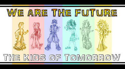 Drawing - The Proud Kids Of Tomorrow 3 by Shawn Dall