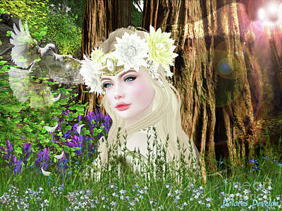 Digital Art - The Pure Of Heart by Dolores Develde