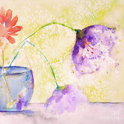 Painting - The Purple Flowers by Lynne Furrer