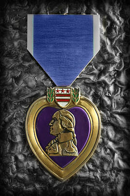 Photograph - The Purple Heart  by Lee Dos Santos