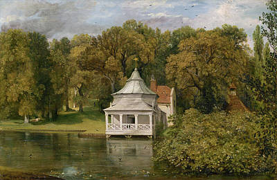 Constable Painting - The Quarters Behind Alresford Hall by John Constable