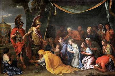 Painting - The Queens Of Persia At The Feet Of Alexander  by Charles Le Brun