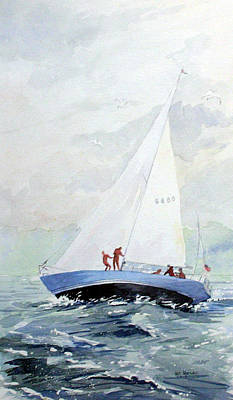 Painting - The Race by Ken Marsden