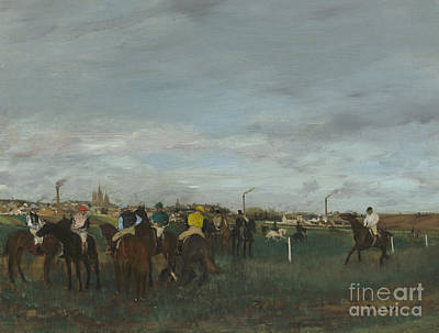 Horse Racing Painting - The Races by Edgar Degas