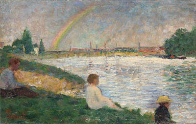 The Rainbow   Study For Bathers At Asnieres Art Print by Georges Seurat