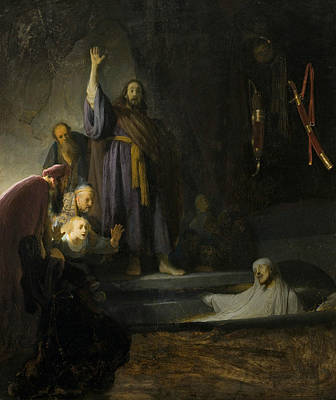 Raising Painting - The Raising Of Lazarus  by Rembrandt