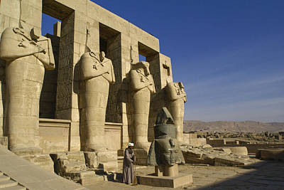 Photograph - The Ramesseum by Michele Burgess