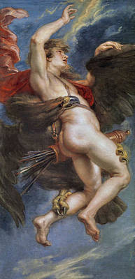 Zeus Painting - The Rape Of Ganymede by Peter Paul Rubens