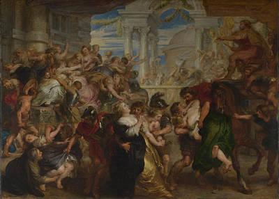 Belgium Painting - The Rape Of The Sabine Women by Peter Paul Rubens