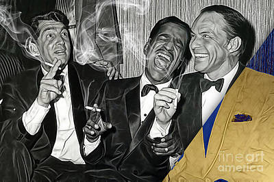 The Rat Pack Collection Art Print by Marvin Blaine