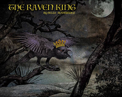 Digital Art - The Raven King by Sandra Selle Rodriguez