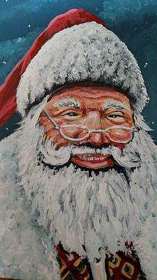 Painting - The Real Santa by James Guentner