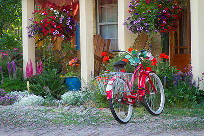 Photograph - The Red Bike by Kristal Kraft