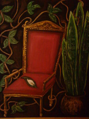 Poisen Painting - The Red Chair by Deborah Palmer