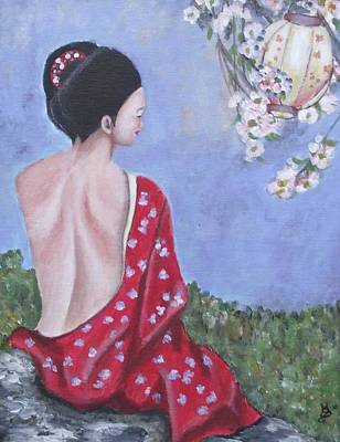 Painting - The Red Kimono by Kim Selig