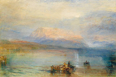English Painting - The Red Rigi by JMW Turner