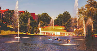 Clemson Wall Art - Photograph - The Reflection Pond - Clemson University by Library Of Congress