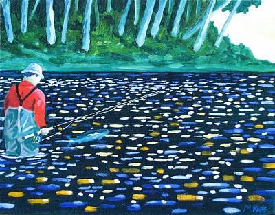 Steelhead Painting - The Release by Michael Kopf