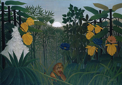Nocturnal Animals Painting - The Repast Of The Lion by Henri Rousseau