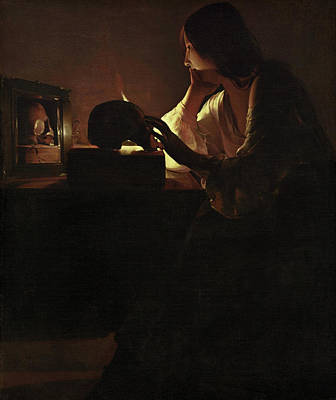 Mary Magdalene Painting - The Repentant Magdalen by Georges de La Tour