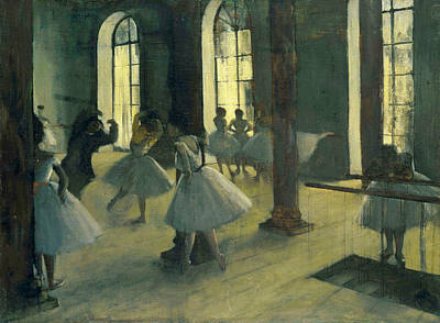 Rehearsal Painting - The Repetition In The Dance Class by Edgar Degas