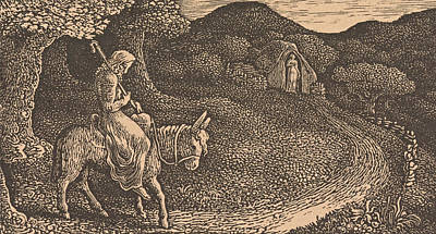 Drawing - The Return Home by Edward Calvert