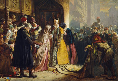The Return Of Mary Queen Of Scots To Edinburgh Print by James Drummond