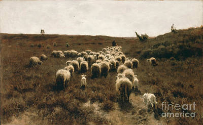 Flock Painting - The Return Of The Flock, Laren by Celestial Images