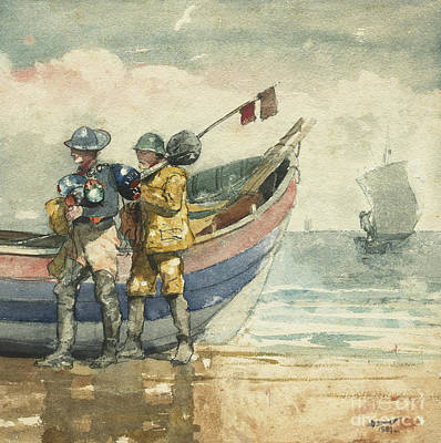 Painting - The Return, Tynemouth by Winslow Homer