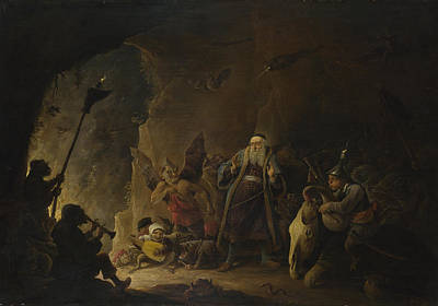 Digital Art - The Rich Man Being Led To Hell by David Teniers the Younger