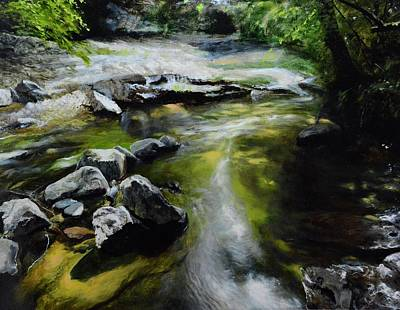 Painting - The River At Lady Bagots by Harry Robertson