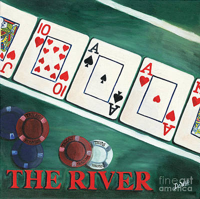 Poker Painting - The River by Debbie DeWitt