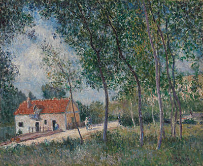 Painting - The Road From Moret To Saint-mammes by Alfred Sisley