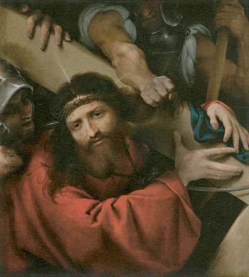 The Road To Calvary Art Print by Lorenzo Lotto