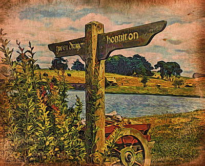 Art Print featuring the digital art The Road To Hobbiton by Kathy Kelly