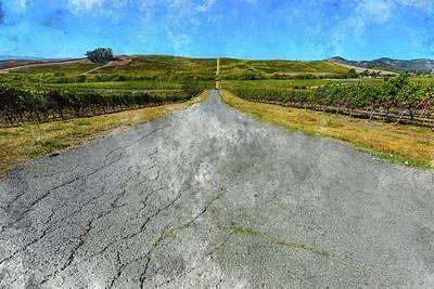 The Road To Napa Valley Vineyard Art Print by Brandon Bourdages